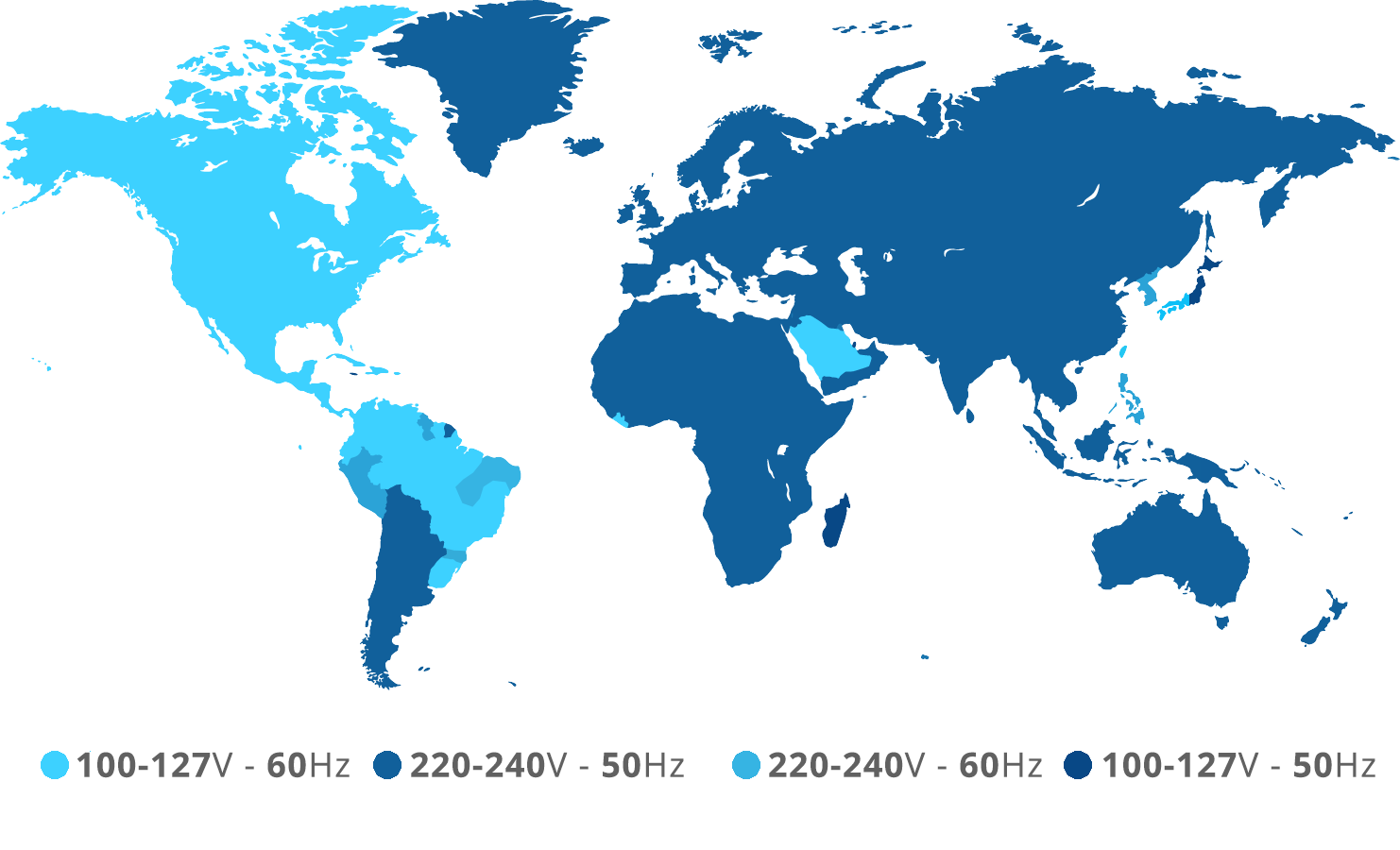Socket voltage and frequency used around the world