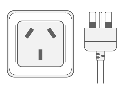 Cook Islands power plug outlet type I