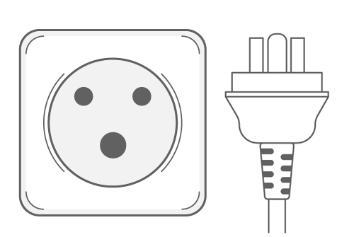 Denmark power plug outlet type K