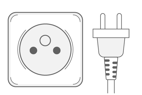 Guadeloupe power plug outlet type E