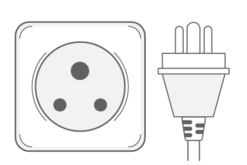 India power plug outlet type D