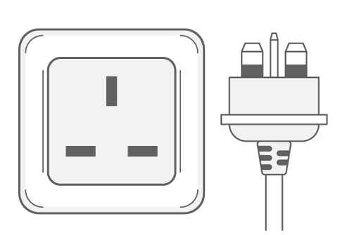 Ireland power plug outlet type G