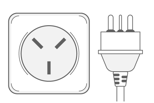 Israel power plug outlet type H
