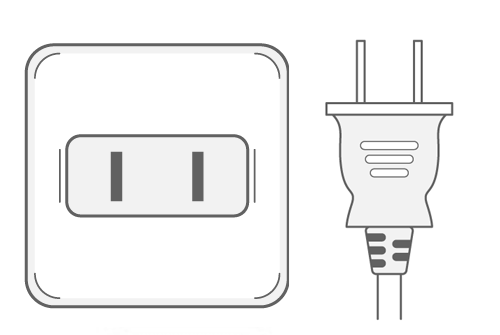 Japan power plug outlet type A