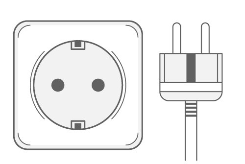 Type F power plug and socket