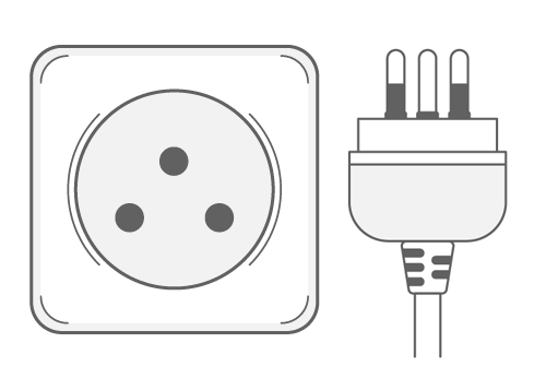 Type O power plug and socket