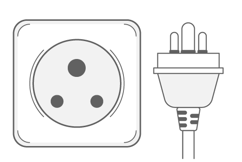 South Africa power plug outlet type M