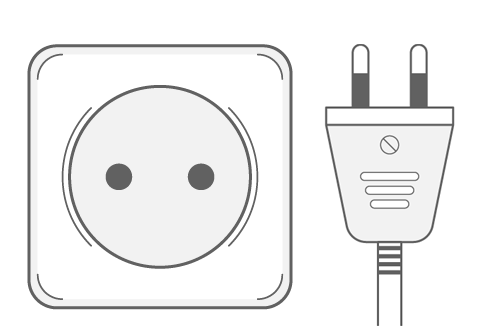 Ukraine power plug outlet type C