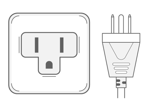 United States power plug outlet type B
